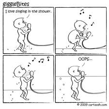 Singing in the shower cartoon 1