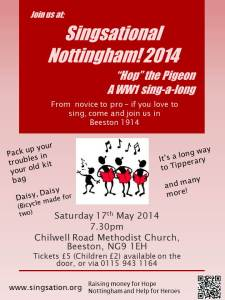 Singsational Nottingham! 2014 - Poster v1